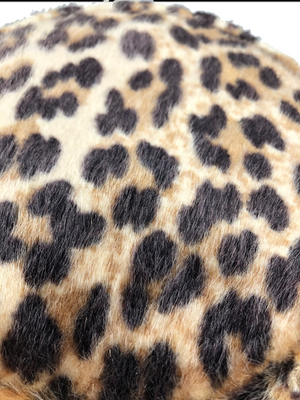 60s faux Fur Leopard Bucket Hat 3 OF 4