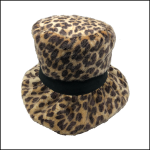 60s faux Fur Leopard Bucket Hat 2 OF 4