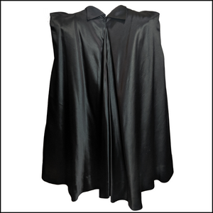 30s Black Satin Deco Evening Cape  BACK 2 of 6