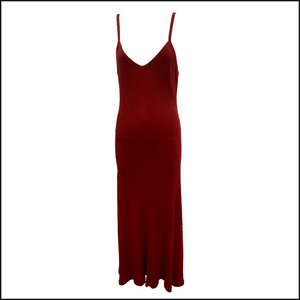 Gaultier 90s Burgundy Full Length Tank Dress Gaultier 90s Burgundy Full Length Tank Dress FRONT 1 of 4