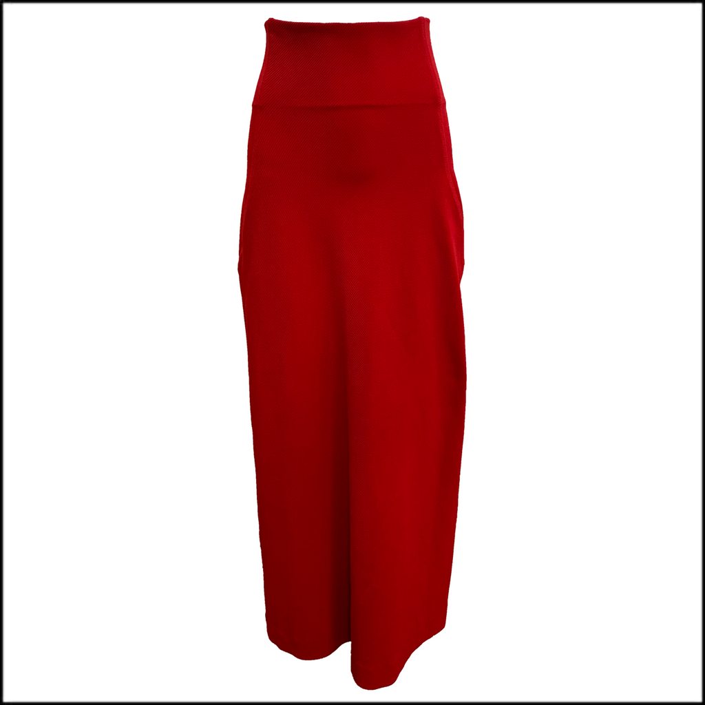 Issey Miyake Red Full Length Skirt FRONT 1 of 3