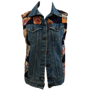 Levis Denim Patchwork Vest FRONT 1 of 5