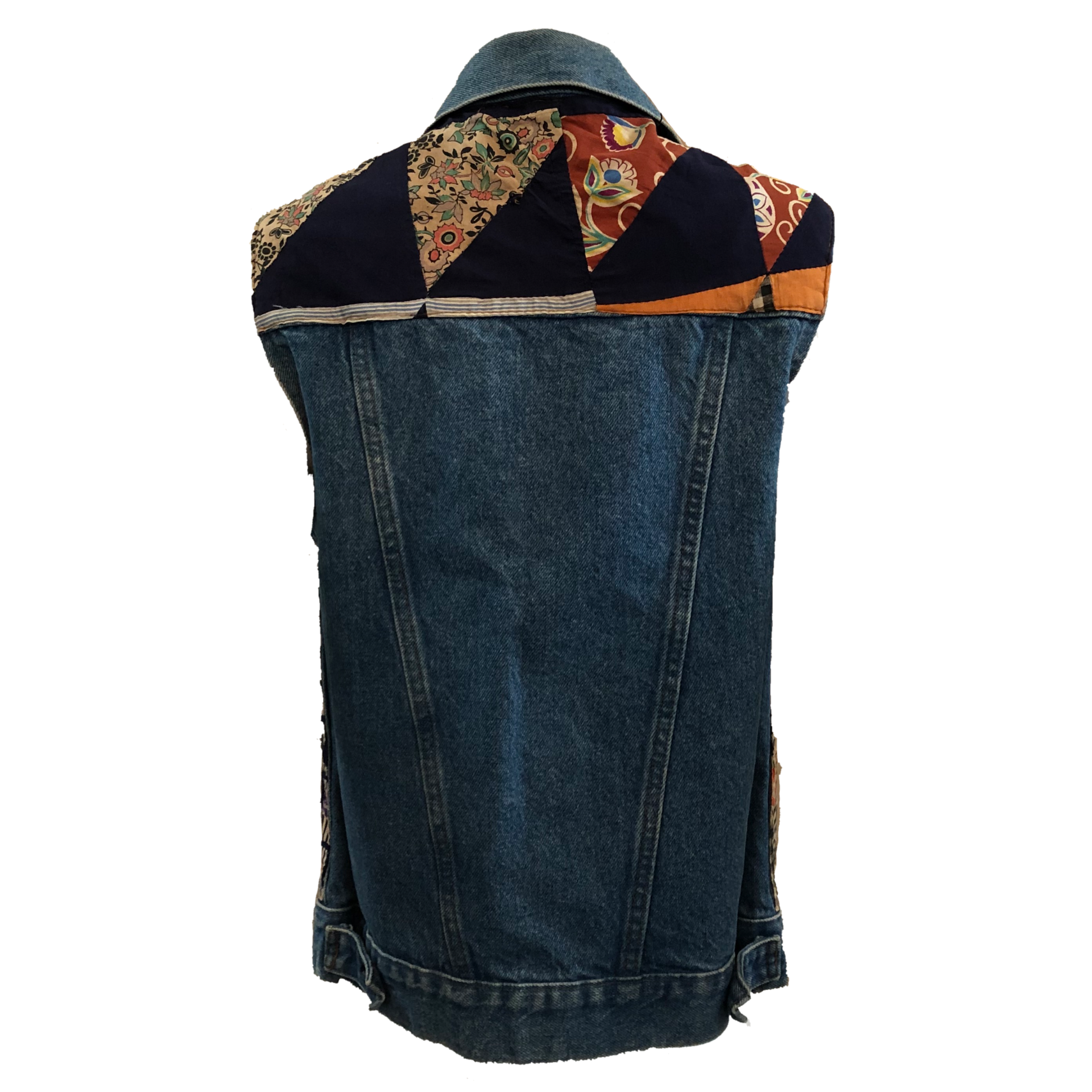 Levis Denim Patchwork Vest BACK 2 of 5