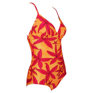 Hermes 90s Starfish Print Maillot, side
