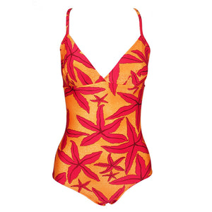 Hermes 90s Starfish Print Maillot, front