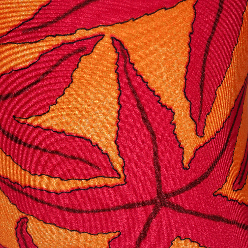 Hermes 90s Starfish Print Maillot, close up