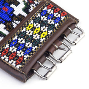 Ethnic Beaded Belt, buckle