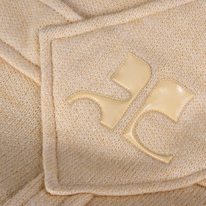 Vintage COURRÈGES 60s Cream Wool Dress, detail