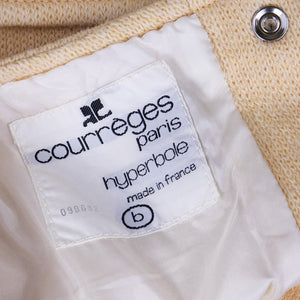 Vintage COURRÈGES 60s Cream Wool Dress, label