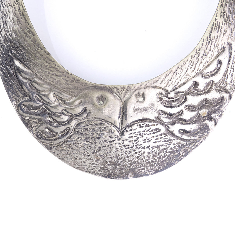 Vintage 70s Bird Collar Necklace, detail
