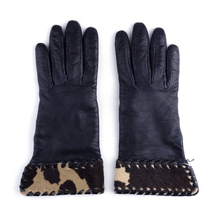 Vintage BOTTEGA VENETA 90s Leather Gloves, top