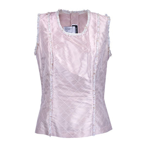 CHANEL Pink Quilted Blouse