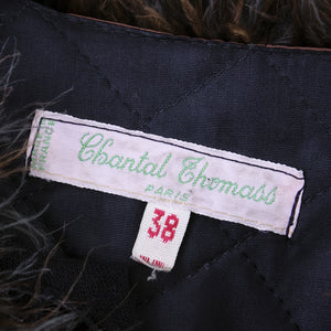Vintage CHANTAL THOMAS 80s Maribou Coat, label