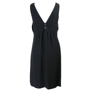 Vintage CHANEL Black Mini Dress, back