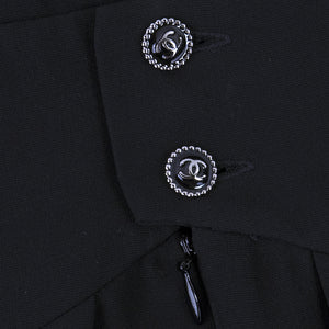 Vintage CHANEL Black Mini Dress, detail