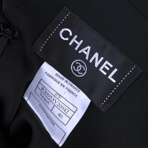 Vintage CHANEL Black Mini Dress, label