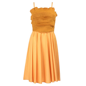 Vintage CALLAGHAN 80s Pumpkin Knit Dress