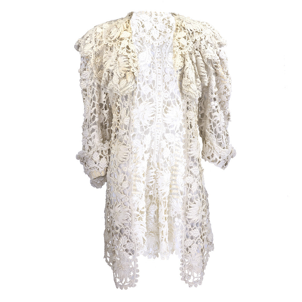 Vintage Edwardian Cotton Lace Jacket