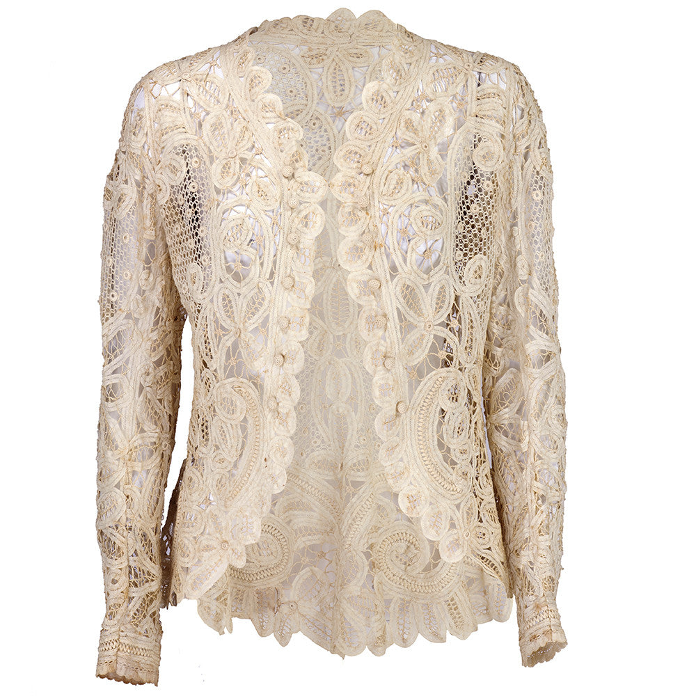 Vintage 1910s Battenburg Lace Jacket