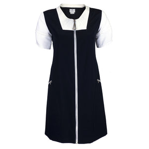COURREGES Black & White Pique Dress