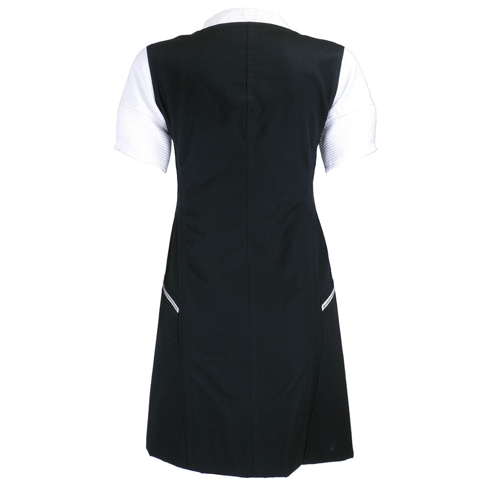 COURREGES Black & White Pique Dress, back