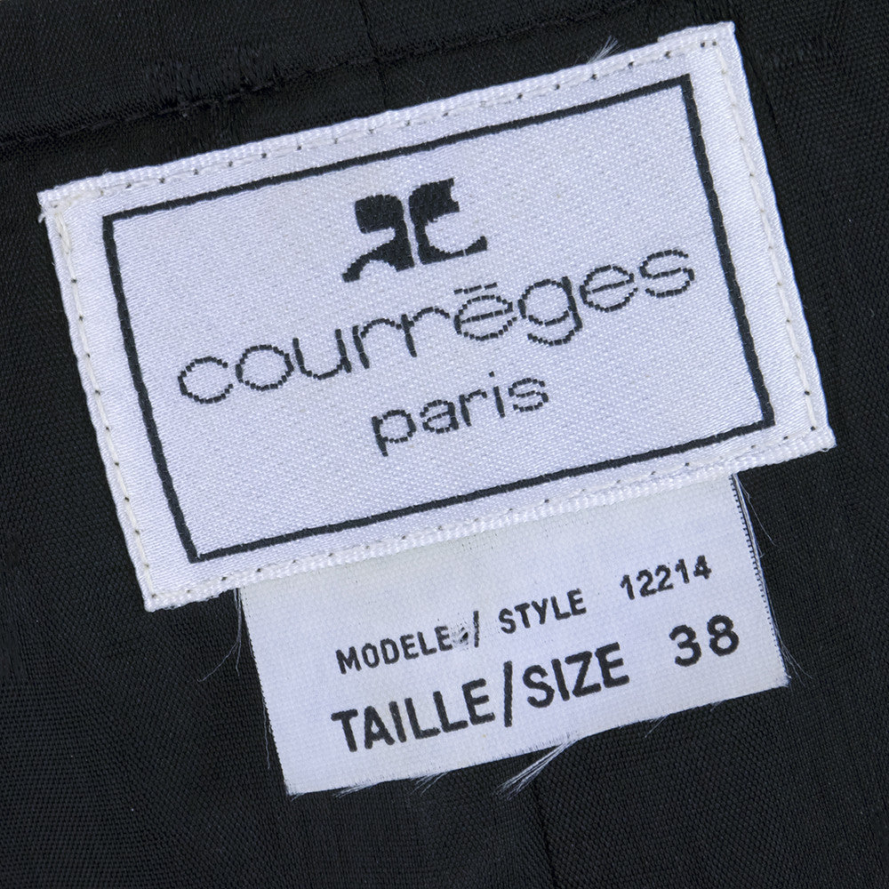 COURREGES Black & White Pique Dress, label