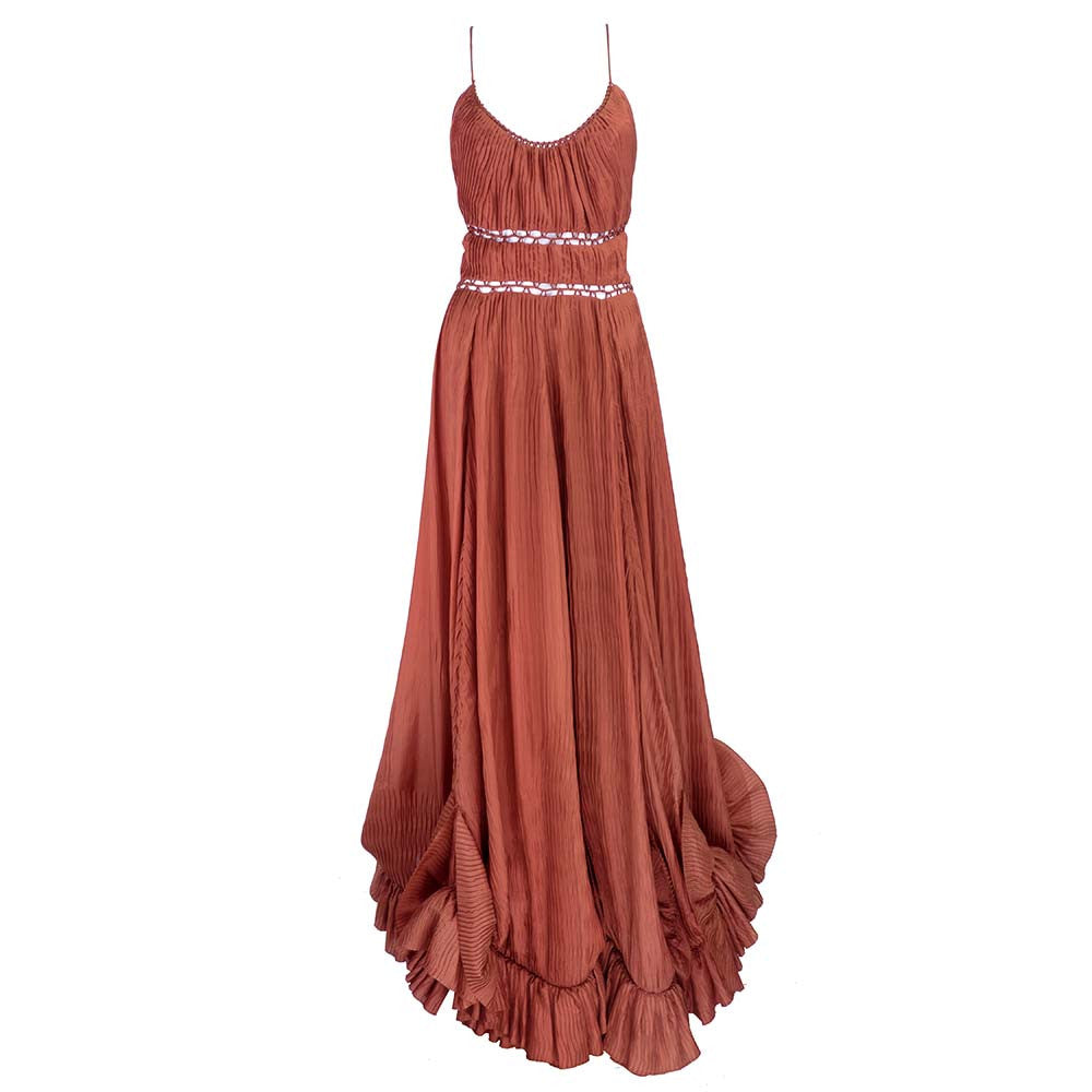 POSEN Russet Evening Gown – THE WAY WE WORE