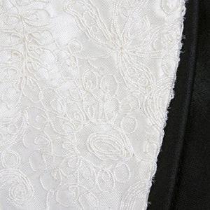 Vintage 50s Black & White Afternoon Dress & Jacket, detail