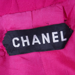 CHANEL Couture Mid-Century Fuschia Ensemble, label