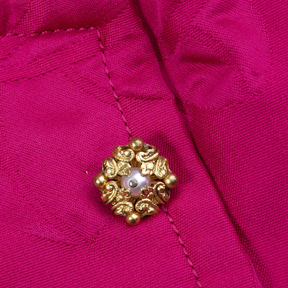 CHANEL Couture Mid-Century Fuschia Ensemble, detail 2