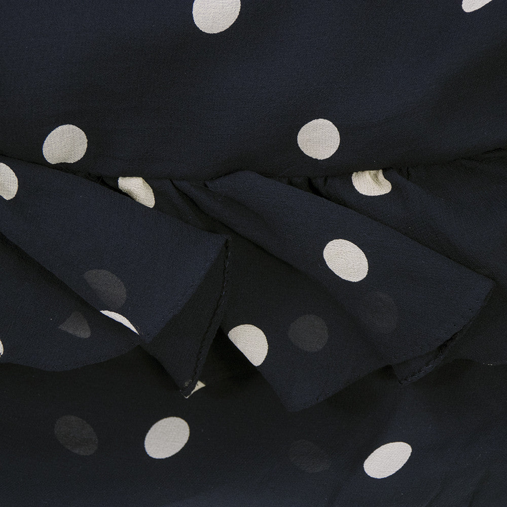 Vintage BLASS 70s Polka-Dot Gown, detail 4 of 5