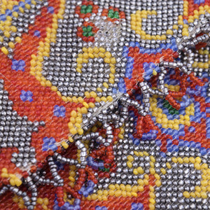 Vintage 20s Beaded Carpet Bag, detail