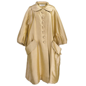 Vintage DIOR 50s Golden Silk Oversized Coat