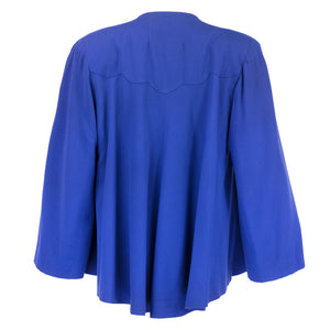 Vintage 40s Blue Swing Jacket, back
