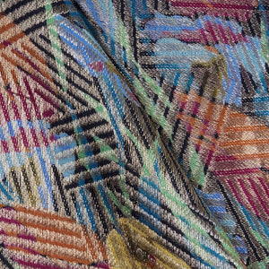 Vintage 20s Deco Lame Fringed Shawl, detail 2