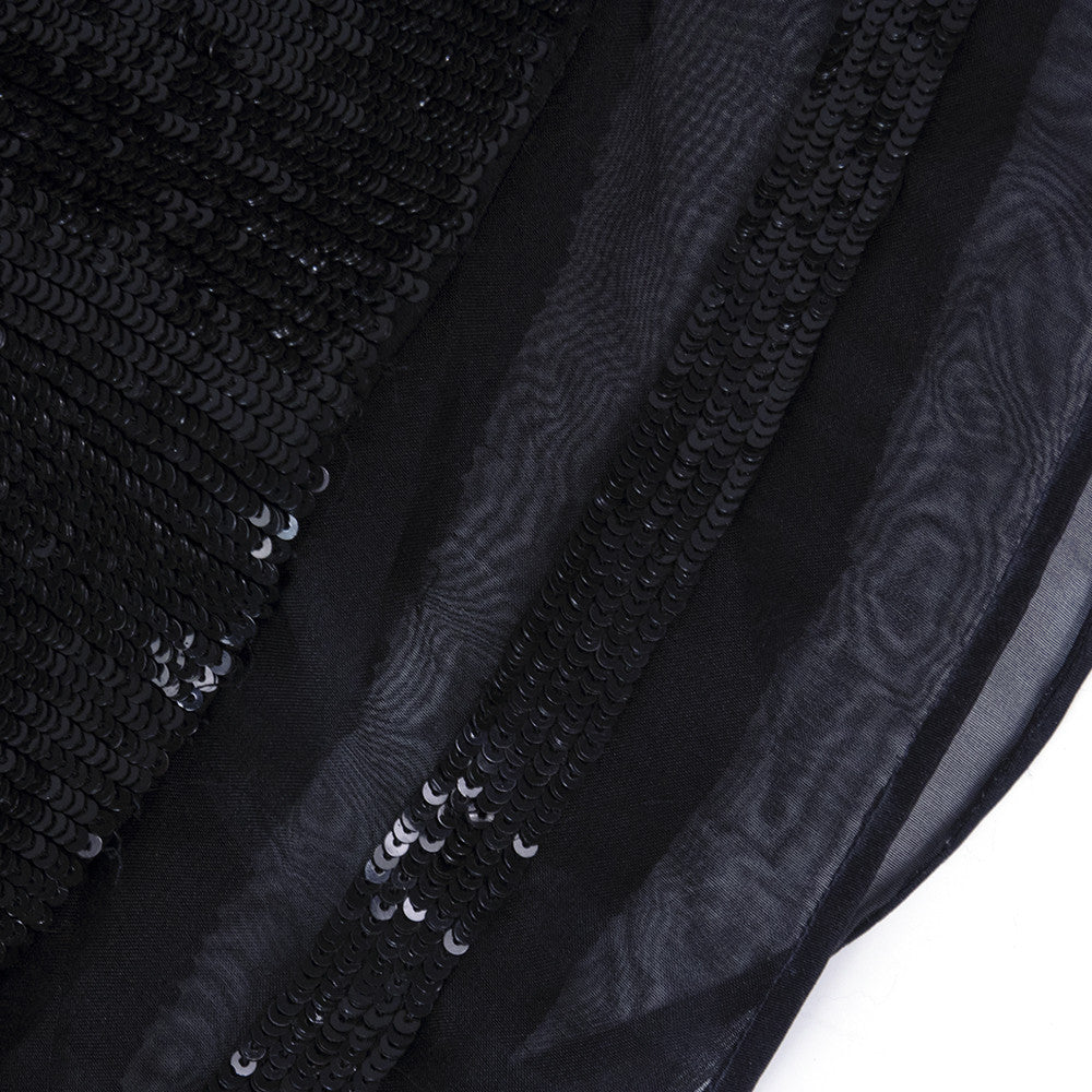 RALPH RUCCI Black Sequin Cocktail Dress, detail 2
