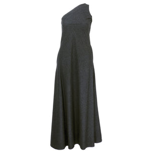 Vintage STAVROPOULOS 70s Grey Wool Gown