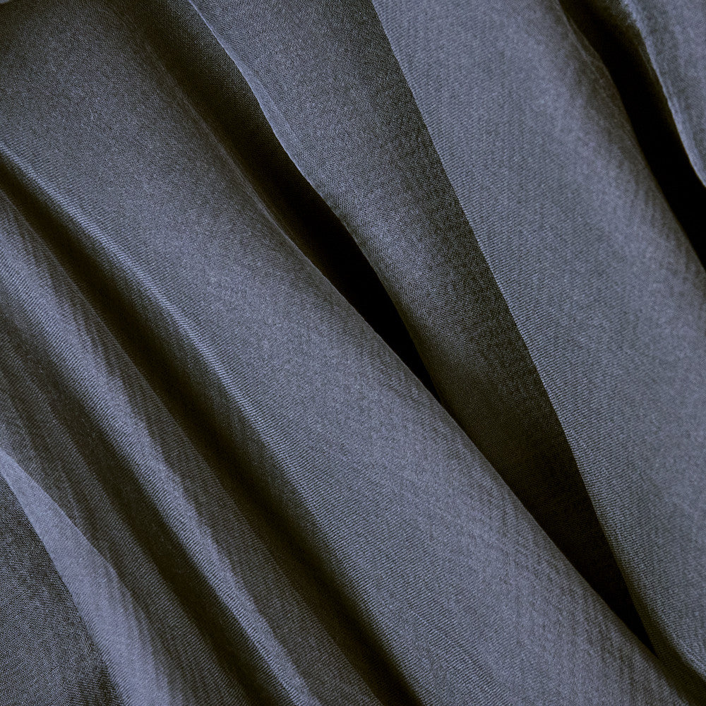 Vintage STAVROPOULOS 70s Grey Wool Gown, detail 2