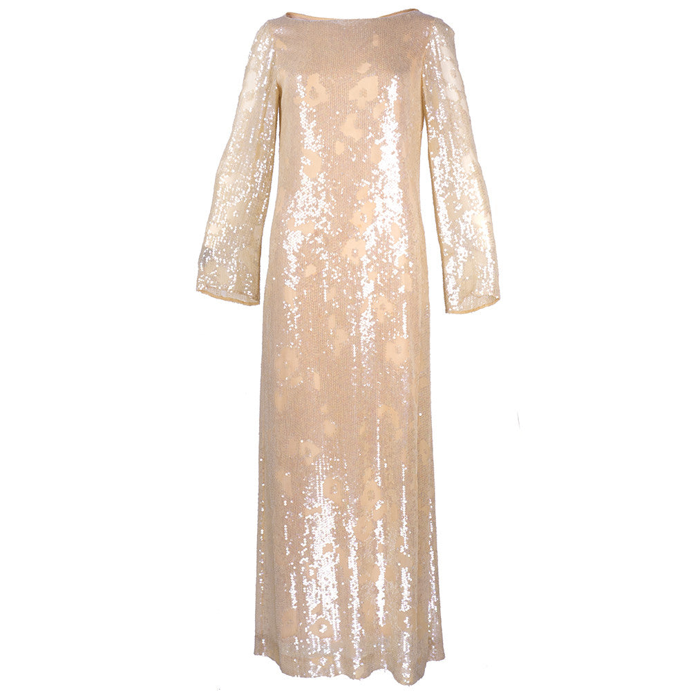 Vintage 80s HALSTON Nude Sheath Gown – THE WAY WE WORE