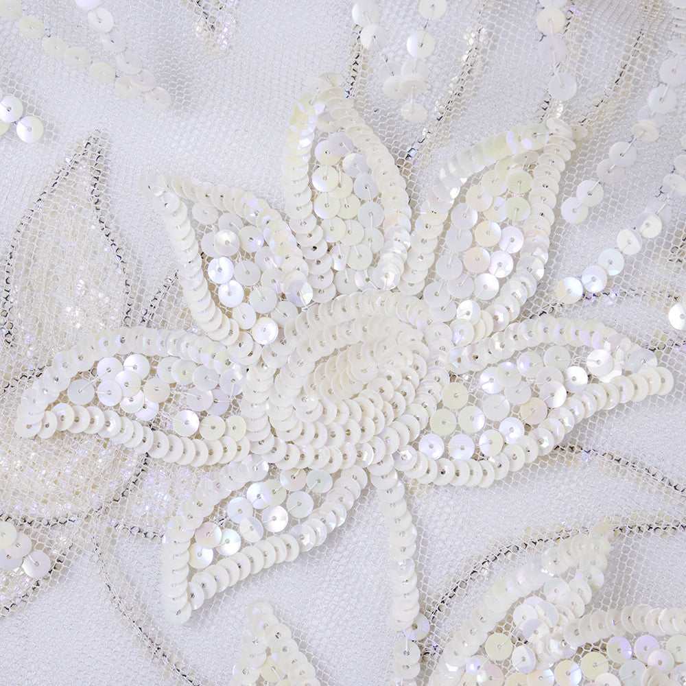 Vintage 40s White Mesh Sequined Bolero, detail 1