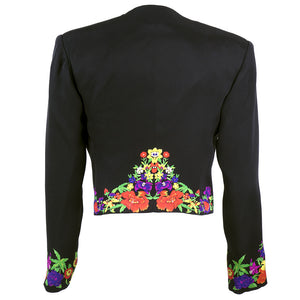 Vintage VERSACE 90s Couture Black Cropped Jacket, back
