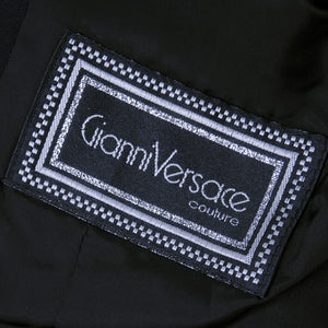Vintage VERSACE 90s Couture Black Cropped Jacket, label