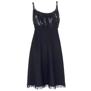 CHADO RALPH RUCCI Black Cashmere & Sequin Dress, back