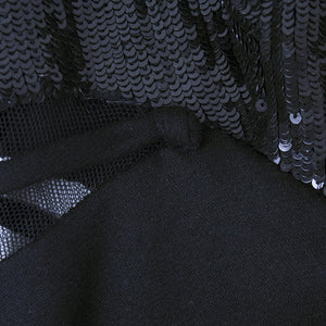 CHADO RALPH RUCCI Black Cashmere & Sequin Dress, detail 1