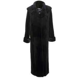 Vintage FERAUD 90s Black Sheared Fur Coat