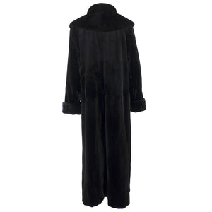 Vintage FERAUD 90s Black Sheared Fur Coat, back