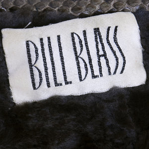Vintage BLASS 80s Snakeskin Fur-Lined Jacket, label