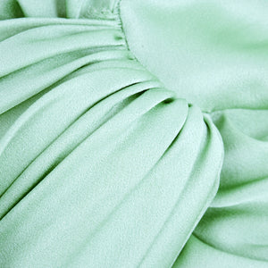 Unlabeled Galliano for Dior 30s Look Mint Green Satin Gown, detail 1