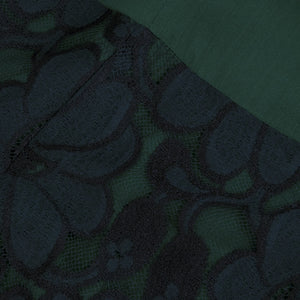 Vintage BEENE 80s Black & Green Lace Cocktail Dress, detail 3