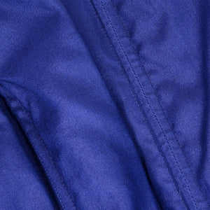 Vintage YSL 80s Navy Blue Ruched Jersey Ensemble, detail 3